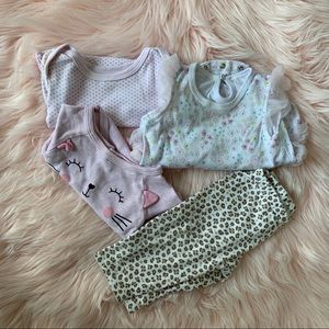 Other - Bundle of three onesies and one pants
